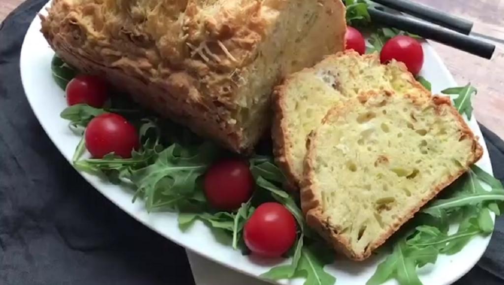 cake poireau chevre