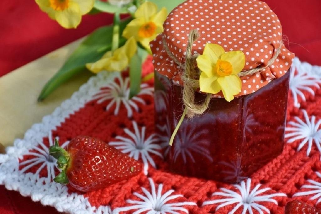 confiture de fraises allégée en sucre