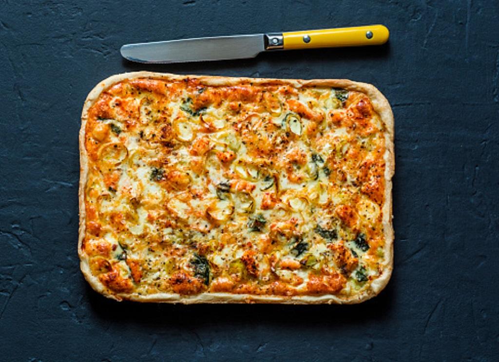tarte aux poireaux mozzarella